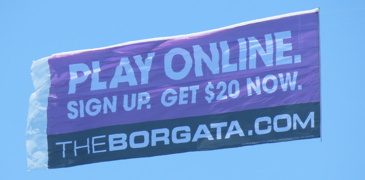 Aerial Advertising in Atlantic City New Jersey