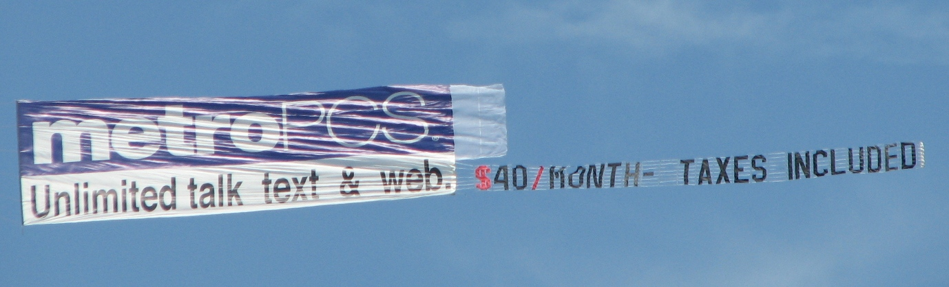airplane banner aerial advertising pa