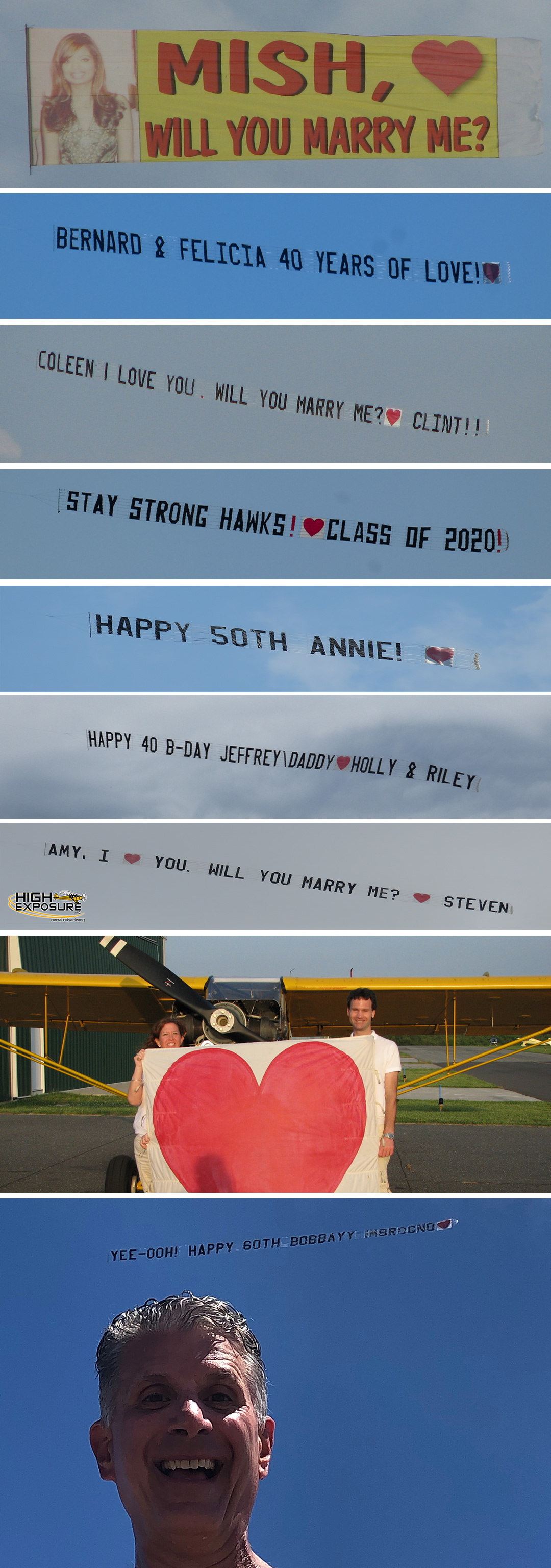 Will you marry me airplane banner proposal